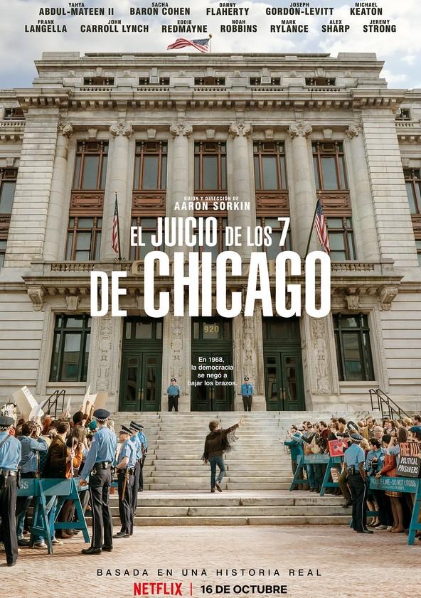 dónde ver película El juicio de los 7 de Chicago